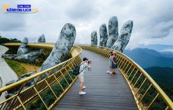 cầu vàng ở Bà Nà Hill